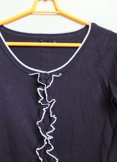 Kup mój przedmiot na #vintedpl http://www.vinted.pl/damska-odziez/kardigany/10145102-granatowo-bialy-sweterek-mohito-rozmiar-m