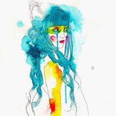"""Conrad Roset is a Barcelona artist who creates stunning watercolor illustrations – raw, iridescent, seductively bare. Art And Illustration, Art Illustrations, Art Sculpture, Street Art, Musa, Magazine Art, Traditional Art, Color Splash, Watercolor Art"