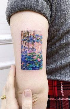 Funny Small Tattoos, Funny Tattoos, Tattoos For Women Small, Cool Tattoos, Tattoos Skull, Body Art Tattoos, Monet Tattoo, Tatoo Angel, Tattoos Lindas