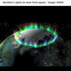 Aurora borealis from space. Alaska's aurora is just part of the auroral ring pictured here from space. aurora by luisa All Nature, Science And Nature, Amazing Nature, Life Science, Northern Lights From Space, Aurora Borealis From Space, Space Photos, Earth From Space, To Infinity And Beyond