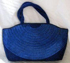 Beaded Navy Blue Handbag at Redrosejewelry.com