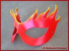 Firestar Red Yellow Leather Mask Super Hero by NokturnelEclipse, $24.99