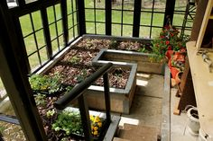greenhouse made from old windows | cabinorganic
