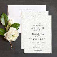 Rustic Birch Wedding Invitations by Emily Crawford | Elli