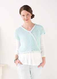Bias Lace #Sweater - The mesh stitch pattern creates a lovely diagonal fabric for a stylish #cardigan