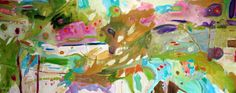 The Answer in the Wind painting by Sharon Barr 30 X 80 inches oil on canvas Abstract Oil, New Art, Oil On Canvas, Tropical, Landscape, Gallery, Paintings, Artwork, Colour