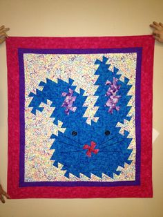 One of our 4-H'ers made this twister quilt wall hanging for the fair.