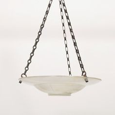 Unusual Holophane Plaffonier ceiling light.  1930s.