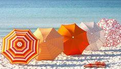 Sunbrellas on the beach -