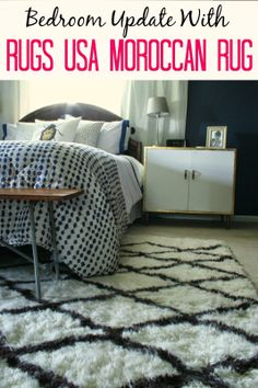 Primitive & Proper: Master Bedroom Updates: New Nightstands and A Rugs USA Moroccan Rug