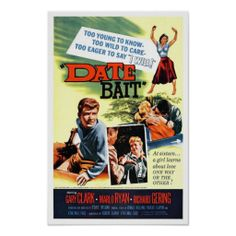 """Date Bait"" Poster Young teens secretly marry against their parents wishes -- and the girl's ex-boyfriend is an obsessed drug addict! Fun Film Fact: Marlo Ryan also appeared in ""Drag Strip Riot!"""