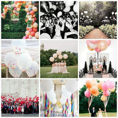 SOIREE | CENTER - Perusing Pinterest: Balloons via soireecenter.com