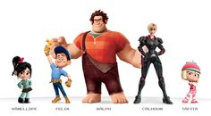 wreck-it ralph characters | The characters were perfect, adorable, likable and yet full of depth ...