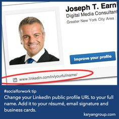 socialforwork tip change your linkedin public profile url to your