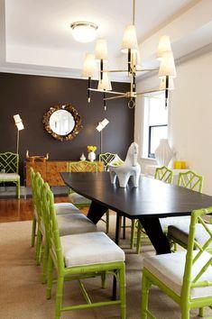 diningroom, brown, green