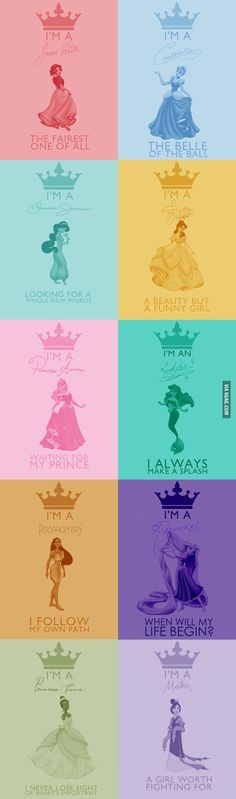 Disney Princesses, who the imagineers are responsible for....which one are you most like?