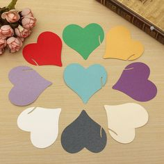 Sale 13% (2.99$) - 12Pcs Heart Wedding Name Place Cards Wine Glass Laser Cut Pearlescent Card Party Accessories