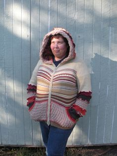 Recycled Sweater Swoodie Hooded Sweater by SewWonderifical on Etsy - StyleSays