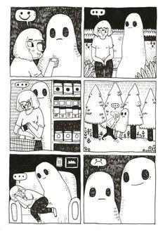 Ghost Comic, Sheet Ghost, Monaco, Gifs, Dark Art, Cute Art, Art Inspo, Illustration Art, Doodles