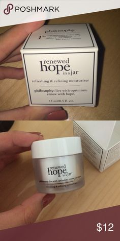 Travel Sized Renewed Hope in a Jar by Philosophy Brand new never opened Philosophy Makeup Face Primer