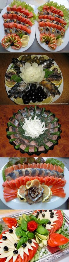 liveinternet.ru Meat And Cheese Tray, Cheese Platters, Party Platters, Party Buffet, Meat Platter, Fruit And Vegetable Carving, Food Artists, Food Carving, Food Garnishes