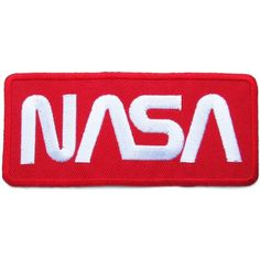 NASA Badge Iron on Patches #Red-White -  #deal lmfao #coupon for beginners