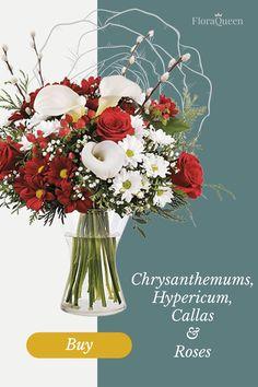 Buffalo Check Christmas Decor, Vintage Bridal Bouquet, Buy Flowers Online, White Chrysanthemum, Calla Lilies, Buy Roses, Bridesmaid Bouquet, Flower Arrangements, Beautiful Flowers