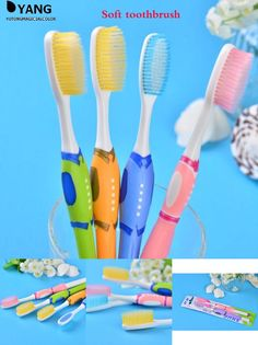[Visit to Buy] 2pcs/lot Professional Adults Toothbrush Take Good Care of Your Tooth Oral Couple Toothbrush Quality toothbrush #Advertisement