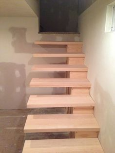 How to build floating stairs