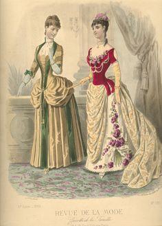 Evening and day dress, 1886, Revue de la Mode