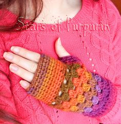 Mittens Autumn Spirit Multicolored Gloves by StarsOfPurpurin Perfect Gift For Mom, Gifts For Mom, Fingerless Gloves, Arm Warmers, Mittens, Winter, Etsy Seller, Autumn, Friends