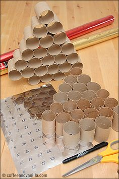 How to Make Advent Calendar out of Kitchen Roll Tubes