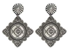 Southwest Style By Jtv (Tm) Hand Crafted Sterling Silver Dangle Earrings