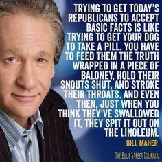 Twitter / jilevin: Bill Maher on truth telling ...