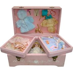 1957 Vogue Ginny Doll Trousseau Chest 7866 Pristine Complete NRFB