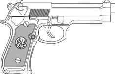 9 Mm Gun clip art - vector clip art online, royalty free & public ...