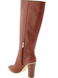 Tenley gold-trim high boot   Banana Republic --- I just bought these!! LOVE THEM!