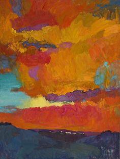 """Larisa Aukon at Mirada Fine Art, 'Above,' Original Oil on Linen, 40"""" x 30"""""""