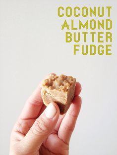 Healthy Dessert: Coconut Almond Butter Banana Fudge