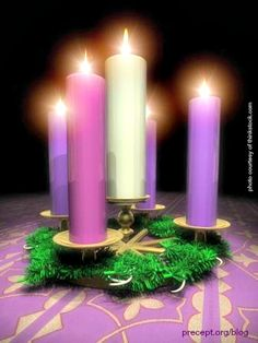 """The word #advent comes to us from Latin and simply means the """"approach"""" or """"coming"""". In Christian traditions it is the 4 weeks leading up to the celebration of the birth of Christ. Each week is marked with the lighting of a candle which represents different aspects of the Christmas story. The first candle is traditionally purple in color and is known as the Hope or Prophets candle, a reminder that for thousands of years the people waited for the promise of God, the Hope of salvation…"""