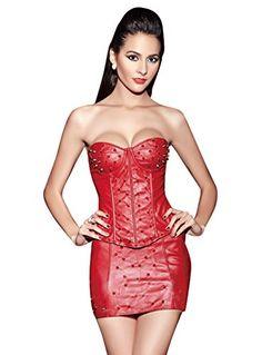 Jemis Sassy Faux Leather Rivet Croset With Dress Red US Size S Jemis http://www.amazon.com/dp/B00OB3XQM6/ref=cm_sw_r_pi_dp_zqvwvb1PMBH7X