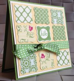 what a fun card and also a good scrapbook page embellishment Pretty Petites with Print Poetry