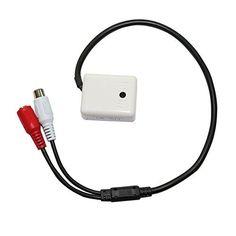 HUACAM HAS04 High Sensitive audio externe amplifié Microphone pour CCTV caméra de sécurité, une ligne 12V, Une ligne Mic, une ligne GND:…