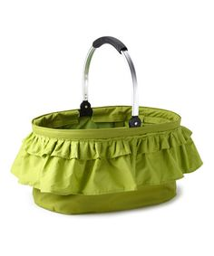 Take a look at this Green Ruffle Folding Market Basket by Moroccan Cooking Collection on #zulily today!