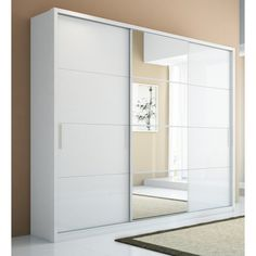 Check out this gorgeous wardrobe from Manhattan Comfort. 5 Drawer Bellevue 3 Door Wardrobe in White Gloss - MHF97684