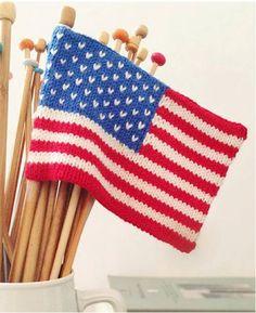 Free Mini American Flag Knitting Pattern