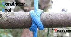 Tutorial on the constrictor knot. The most impressive binding knot I have yet encountered.