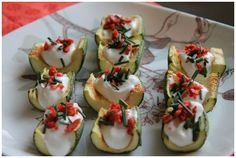 Zucchini skins as healthy appetizers #FingerFood #HealthyAppetizers
