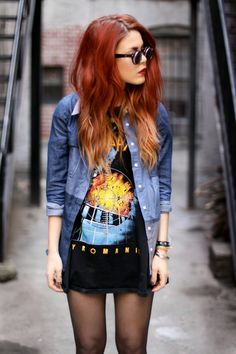 Red ombre! obsessed and cant get enough love my hair like this