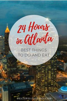 How to spend 24 hours in Atlanta: a step-by-step guide to the best things to do and some delicious southern foods to try! Visit Texas, Visit Usa, Visit Florida, Visit Atlanta, Atlanta Travel, Usa Travel Guide, Travel Usa, Canada Travel, Travel Guides